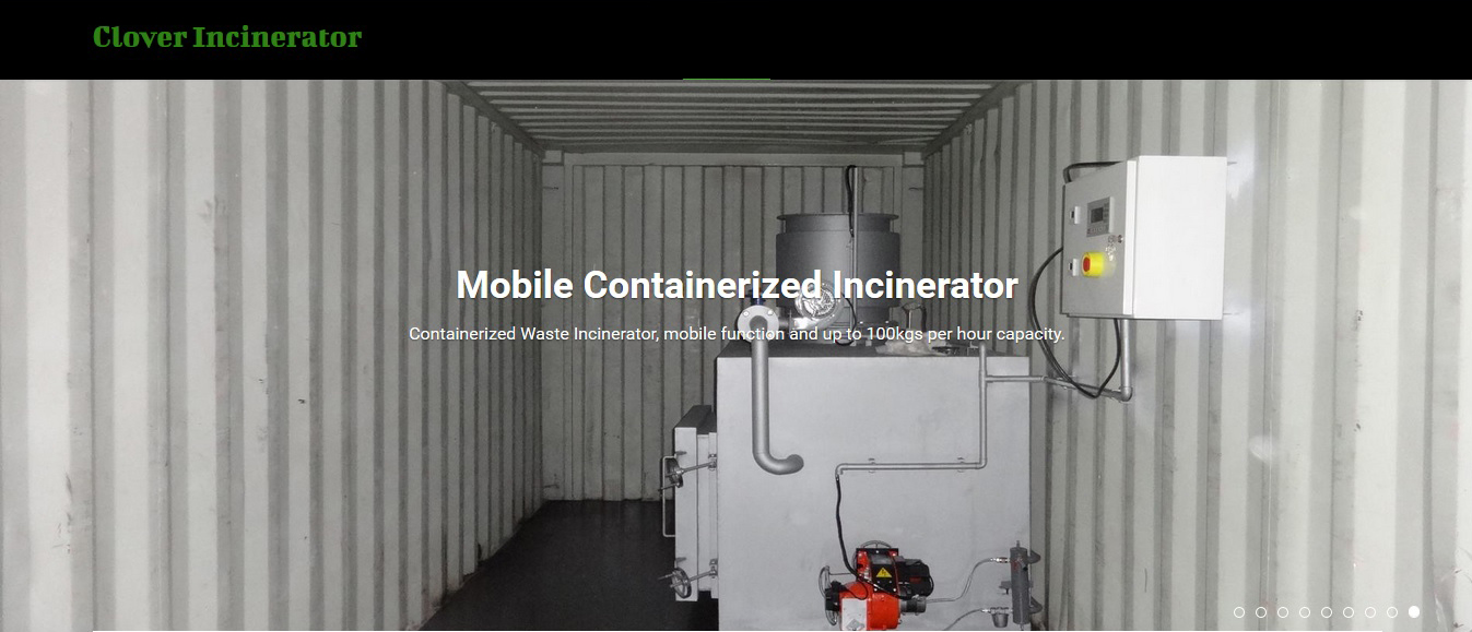 Mobile Diesel Fired  Incinerator in container