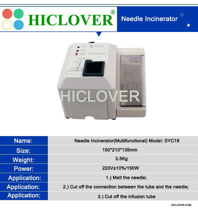 Needle Incinerator(Needle & Syringe Destroyers) and Micro Incinerator for COVID 19 waste